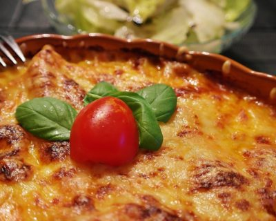 Pasta al Forno - mit Käse überbacken
